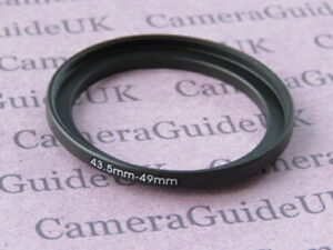 43.5mm to 49mm Male-Female Stepping Step Up Filter Ring Adapter 43.5mm-49mm