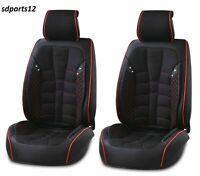 Per Nissan Audi Renault Coprisedili Nero Rosso Tessuto Similpelle Anteriori 1+1