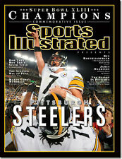 BEN ROETHLISBERGER PITTSBURGH STEELERS SPORTS ILLUSTRATED NO LABEL FEB 9 2009