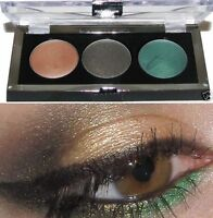 Maybelline Eyestudio Color Gleam Cream Eye Shadow Trio -Green Sparkle- New