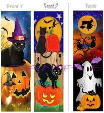 2-Bewitching BOOKMARK BLACK CAT Halloween Witch Pumpkin Ghost ART Card Figurine