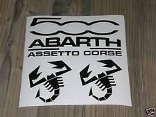 FIAT 500 Adesivi Set Sticker ABARTH ASSETTO CORSE TUNING RACING TRASFORMAZIONE ESSESSE