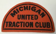 Vintage Train Patch Michigan United Traction Club Railroad RR Unusual Unsewn