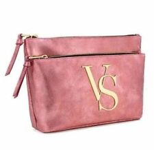 Victorias Secret Signature LARGE Double Zip Cosmetic Makeup Bag NWT