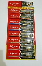COLGATE ZigZag Charcoal SOFT Toothbrush - 6pc PACK +2 FREE | GENTLE CLEAN TEETH