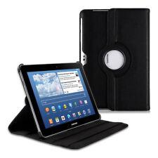 Schutz Hülle für Samsung Galaxy Tab 10.1/10.1N Kunstleder Tasche Schwarz Case