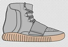 Yeezus Kanye Adidas Yeezy 750 Gum Sticker Decal Supreme Sneaker Hype 5x3 Inches