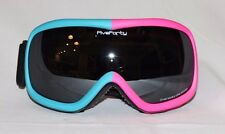 Youth Snow Goggles Ski/Snowboard Pink Blue Frame Mirror Smoked Double Lens