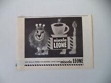 advertising Pubblicità 1960 MISCELA LEONE