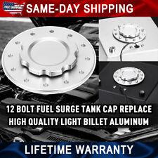 160mm Billet Aluminum Fuel Cell Replacement Flush Bung 12 Bolt Surge Tank Cap