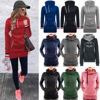Women Hoody Sweatshirt Hooded Long Sleeve Hoodie Jumper Jacket Pullover Coat Top