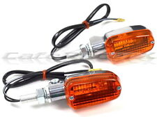 Mini Polished Alloy Mark 2 Turn Signal Lights Amber Lens Single Filament 12 Volt