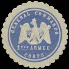 Königsberg/Preußen: General Commando 1tes Armee-Corps Siegelmarke - 387142