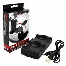 New 2-In-1 Dual Charging Station Charger for PS3 Move Controller Charger Dock