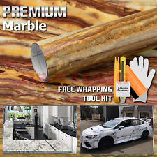 """*48""""x120"""" Gloss Marble Granite Look Vinyl Wrap Contact Paper Home Kitchen D38"""