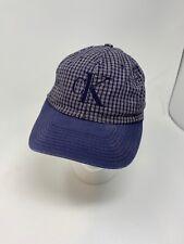 Vintage Calvin Klein Snapback Hat Blue Plaid