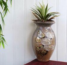 VTG Salt Glaze Ceramic Wall Pocket Hanging Vase Rock Hard Stoneware Art Pottery