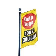 Fahne 100 x 300 cm Werbefahne Flagge Fahnendruck Flaggendruck Gartenfahne