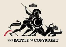 Old Cartoon.  BATTLE OF COPYRIGHT