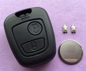Fits Toyota aygo 2 Button Remote Key Fob Case Shell Repair Refurbishment Kit