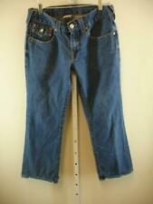 TRUE RELIGION Billy Bootcut Blue Cotton Denim Jeans USA Made Mens sz 31 32 X 28