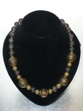Old Glass Handmade Beads African Necklace