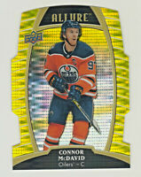 2019-20 Upper Deck Allure YELLOW TAXI DIE CUT #1 CONNOR McDAVID Oilers RETAIL