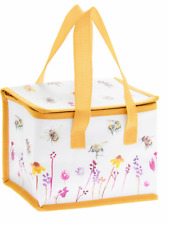 Bee and flower cooler lunch box bag ladies girls school lunch picnic gift food
