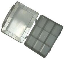 Caja organizadora transparente 180x149x40mm con 9 compartimentos plástico