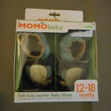 MOMO BABY 12-18 MONTHS; SOFT SOLE LEATHER BABY SHOES