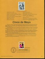 USPS 1998 First Day Issue Souvenir Page, Cinco de Mayo - 98-08