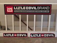 Little Devil Brand BMX Banner Ramp Stickers Old School