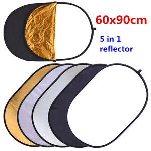 5in1 Faltreflektor Set 60x90cm ( 23.6x35.4in) / Multi Reflektor Light Reflector
