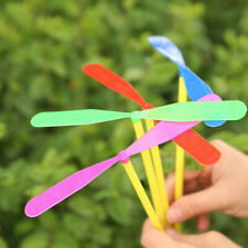 100pcs Plastic Bamboo Dragonfly Propeller Outdoor Toy Children Kids Gift Flying