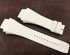 Genuine Richard Mille 63-02 Wordtimer White Rubber Strap/Band (28x18mm) New