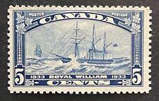 Canadian Stamp, Scott #204 Steamship Royal William (1933) 5c dark blue VF M/H