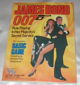 James Bond 007 Role Playing In Her Majesty's Secret Service (1983) Basic Game