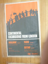 VINTAGE POSTER  SEALINK BOULOGNE LONDON  FOR YOUR HOLIDAY HOME IN FRANCE  ?