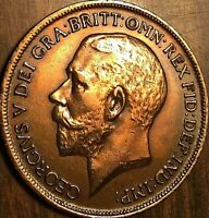 1919 GREAT BRITAIN GEORGE V PENNY COIN - Fantastic example!