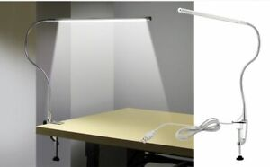 Long Arm Lamp 48 LED Clip Mounted Office USB Flexible Gooseneck Reading Lights