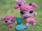 Littlest Pet Shop Mother & Baby #3599 3600 PINK POODLE Dogs Puppy Blue Hasbro 3+