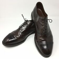 5f12409543851 Brooks Brothers Perforated Captoes Leather Oxfords Dress Shoe Size 10.5 US  Brown
