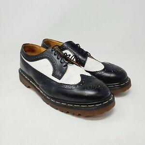 Dr Martens Docs Mens Black White Brogue Wingtip Bex Leather 3989/59 US Size 11