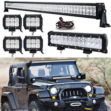 "52INCH 700W+12"" 72W+4"" 18W LED Work Light Bar SPOT FLOOD Offroad Jeep Truck 54"""