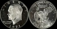 1971-S PCGS PR69 Eisenhower Ike Old Large Silver Dollar US Type Coin Deep Cameo