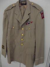 US WWII uniforme chaqueta 82nd Airborn Normandy oficial verano-chaqueta Silver Star
