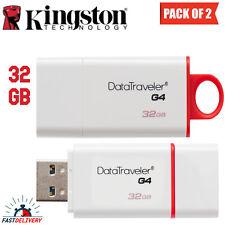 KINGSTON DATA TRAVELER G4 USB FLASH MEMORY DRIVE 32 GB - (Pack of 2)