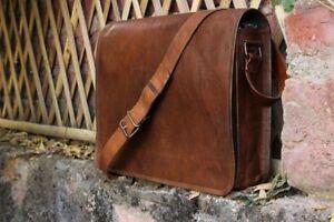 Men's Handcrafted Messenger Bag Genuine Vintage Leather Laptop Crossbody Satchel