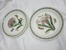 "Two Portmeirion Botanic Garden 8"" Plate Belladonna Lily Sweet William NEW W/TAG"