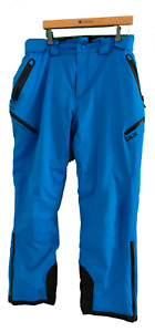 DLX BLUE WATERPROOF BREATHABLE SKI TROUSERS - Size XL